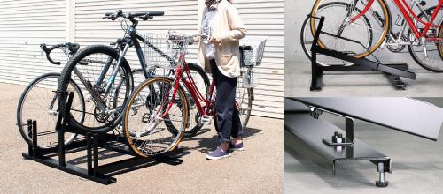 スロープ付き自転車ラック